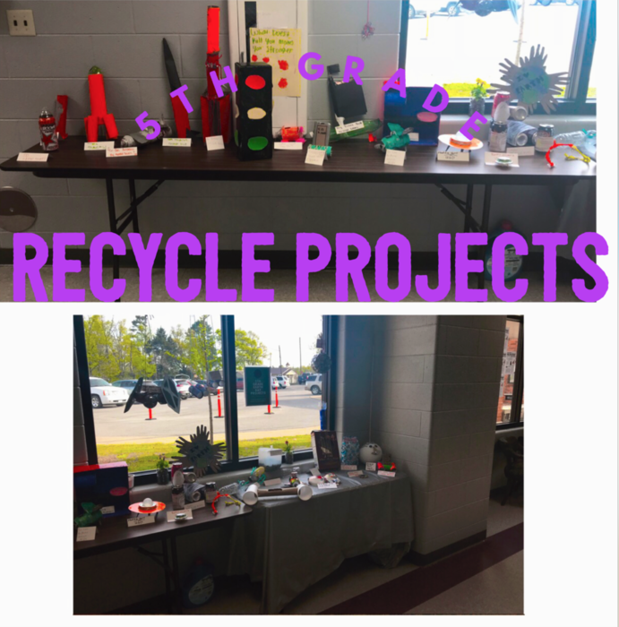 5th Grade Recycle Projects
