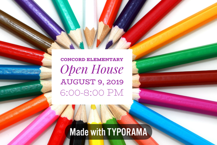 Concord Elementary Open House