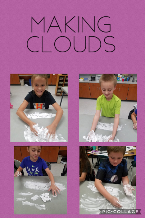 3rd Graders making clouds