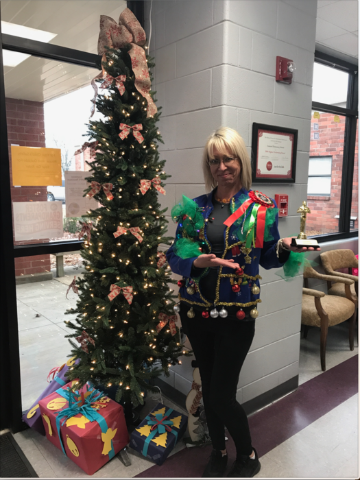 Day 12 of Concord Elementary Christmas! Ugly Sweater Winner!!