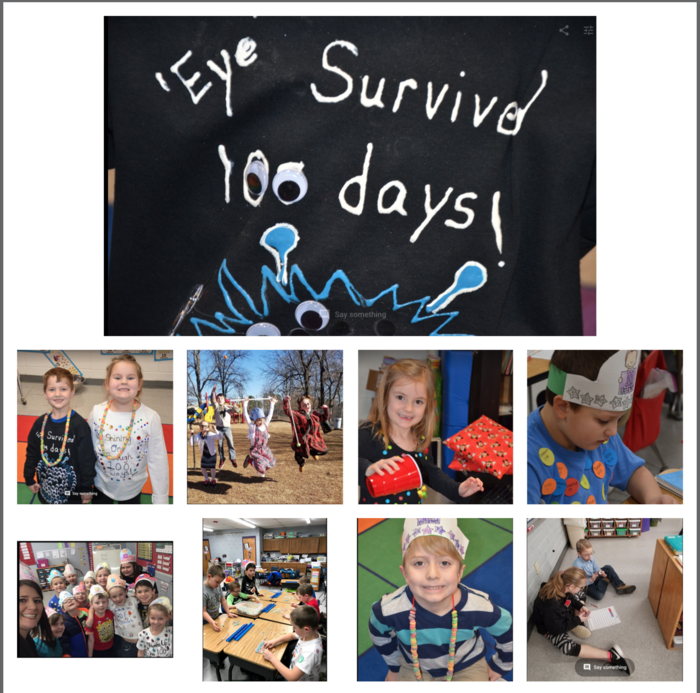 CES Celebrating 100 Days of School