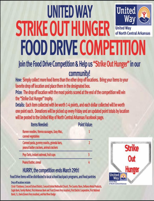 United Way Food Drive